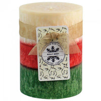 4-inch Palm Wax Scented Candle - Holly Berry