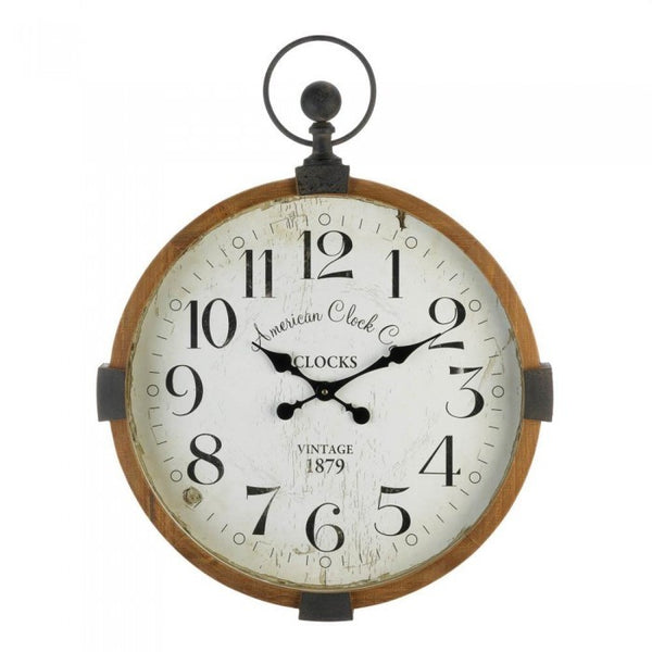 Vintage-Look Stopwatch Wall Clock