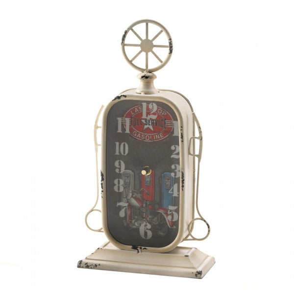 Vintage-Look Desk Clock - Gas Pump
