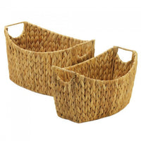 Oblong Natural Water Hyacinth Nesting Basket Set