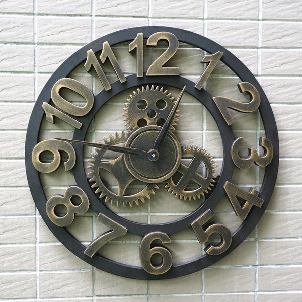 Retro Vintage Clock Wall Decor for Retro Style Living