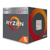 AMD Ryzen 5 2400G CPU with Wraith Cooler, AM4, 3.6GHz, Quad Core, 65W, 6MN Cache, 14nm