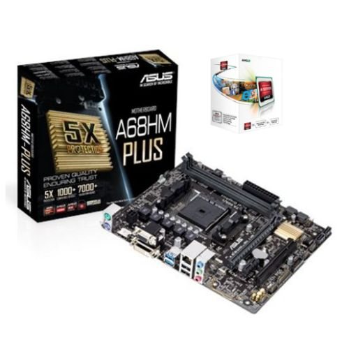 Asus A68HM-PLUS Motherboard with AMD A4 X2 4000 CPU Soft Bundle