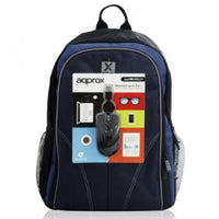 Approx (APPNBBUNDLE40) Backpack & Mouse Bundle - 15.6 Case in Black & Blue with USB Optical Mouse