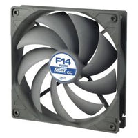 Arctic F14 14cm PWM PST Case Fan for Continuous Operation, Black & Grey, 9 Blades, Dual Ball Bearing, 6 Year Warranty
