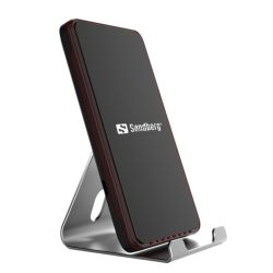 Sandberg Wireless Charging Dock, 10 W, Aluminium, Micro USB, Supports Fast Charge, 5 Year Warranty
