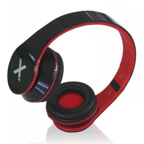Headset, 3.5mm Jack, Foldable, Black & Red DJ Jazz
