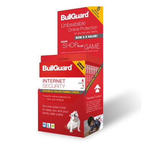 Bullguard Internet Security 2018 Retail, 6 User (10 Pack), Multi Device Licence, 1 Year