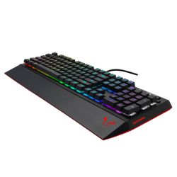 Riotoro Ghostwriter Prism RGB Mechanical Gaming Keyboard, Cherry MX Brown Switches, 16.8 Million Colour LED