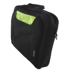 "Approx (APPNBCP15BGP) 15.6"" Laptop Carry Case, Multiple Compartments, Padded, Black/Green, Retail"