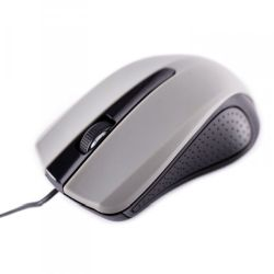Approx APPOMLITEG Wired Optical Mouse, USB, 1000 DPI, Ergonomic, Grey