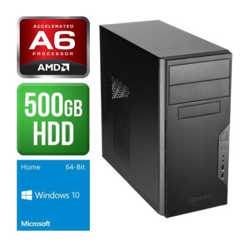 Spire PC, Antec VSK3000B, AMD AM4 A6 X2 9500, 4GB, 500GB, Wireless, KB & Mouse, Windows 10 Home