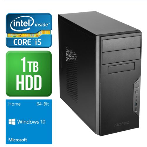 Spire PC, Antec VSK3000B, i5-6400, 4GB DDR4, 1TB, Wireless, KB & Mouse, Windows 10 Home