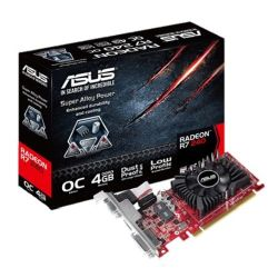 Asus Radeon R7 240, 4GB DDR3, PCIe3, VGA, DVI, HDMI, Low Profile (With Bracket), Overclocked