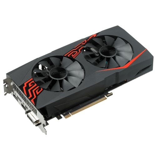 Asus Expedition Radeon RX570 OC, 4GB DDR5, PCIe3, DVI, HDMI, DP, 1266MHz Clock, VR Ready