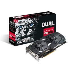 Asus Radeon RX580 DUAL OC, 4GB DDR5, DVI, 2 HDMI, 2 DP, 1380MHz Clock, 0dB Tech, VR Ready