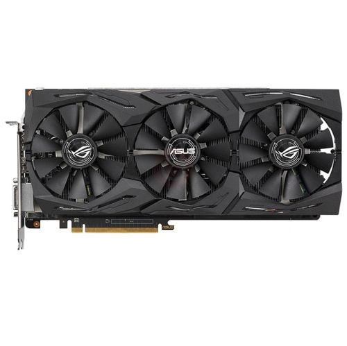 Asus Radeon ROG STRIX RX VEGA56 OC, 8GB HBM2, DVI, 2 HDMI, 2 DP, 1573MHz Clock, RGB Lighting