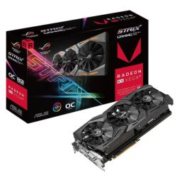 Asus Radeon ROG STRIX RX VEGA64, 8GB HBM2, DVI, 2 HDMI, 2 DP, 1590MHz Clock, RGB Lighting