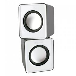 Approx (APPSPX1W) 2.0 Mini Stereo Speakers, 5W RMS, White, Retail