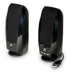 Logitech S150 2.0 Digital Speaker System, 5W RMS, Black, USB