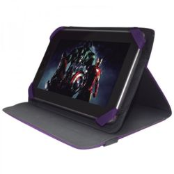 "Approx 10"" Tablet Case/Stand, 4 x Elastic Corners, Purple (Fits 9"", 9.7"", 10"")"