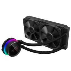 Asus ROG Ryuo 240mm Liquid CPU Cooler, 2 x 120cm PWM Fan, Full Colour OLED Display, RGB