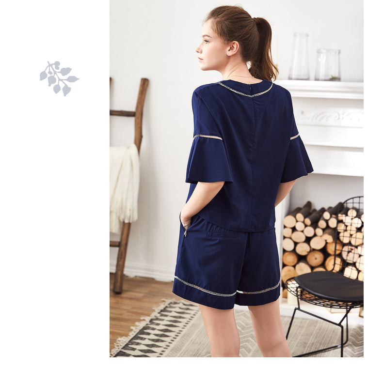 Sail-away Flutter Sleeves PJ Set
