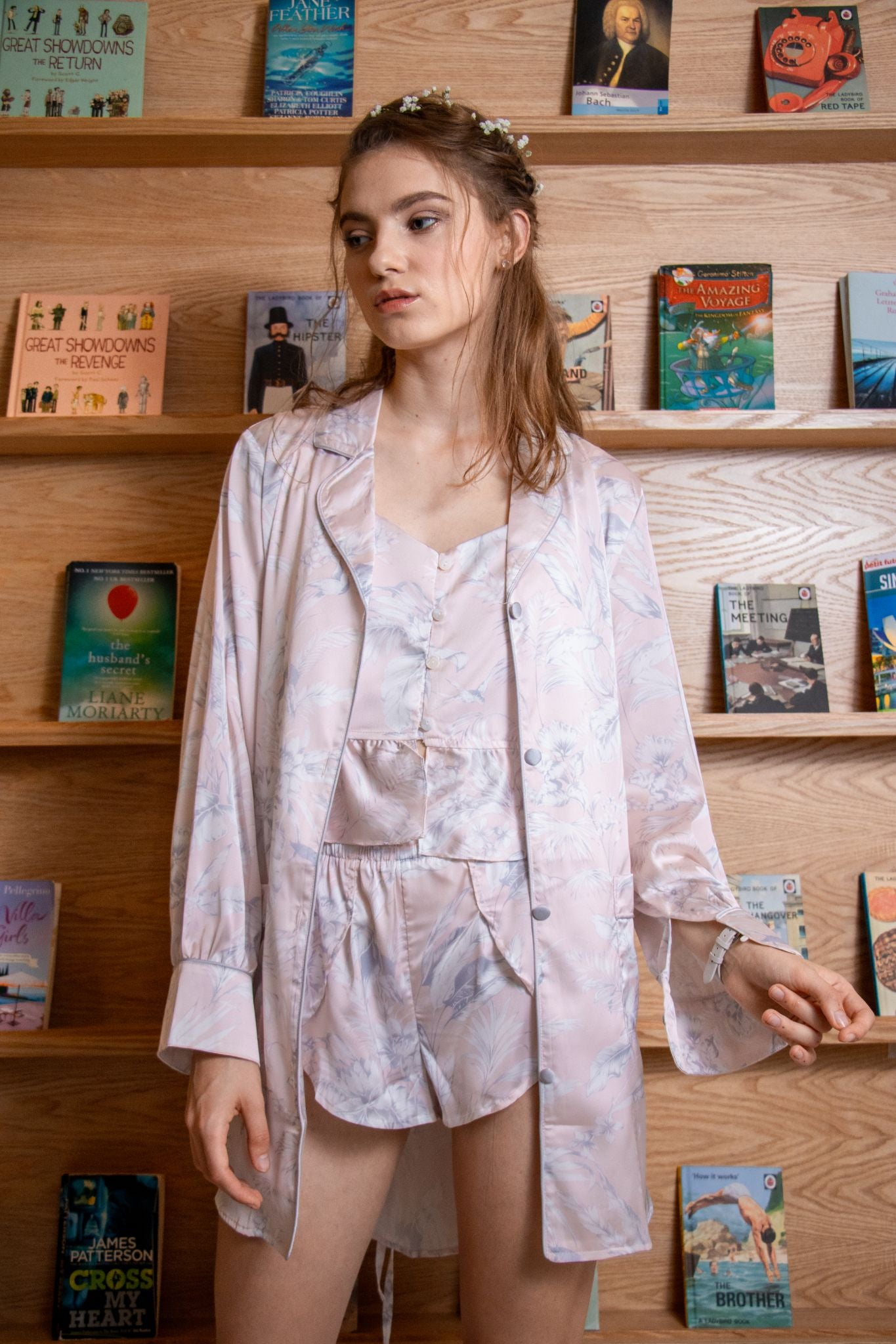 Pixie Pastel Foliage Shirt Dress