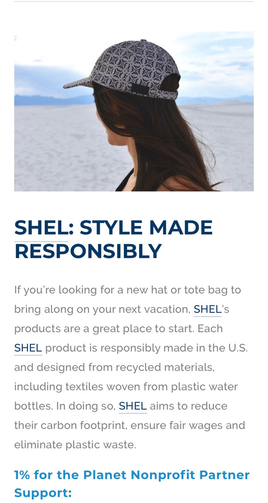 1% For the Planet travel recommendations, SHEL USA