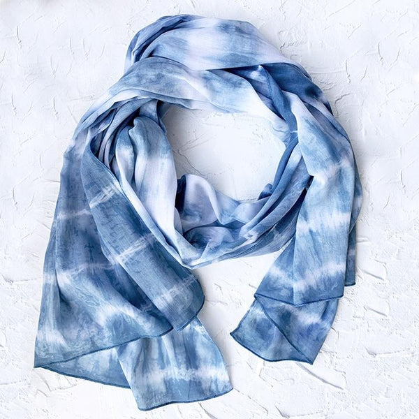 Light Scarf Blue Stripe