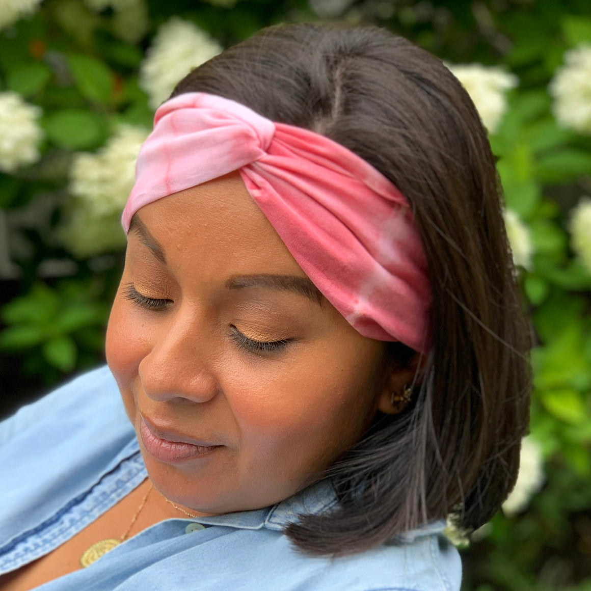 organic cotton headband dyed with natural pigments
