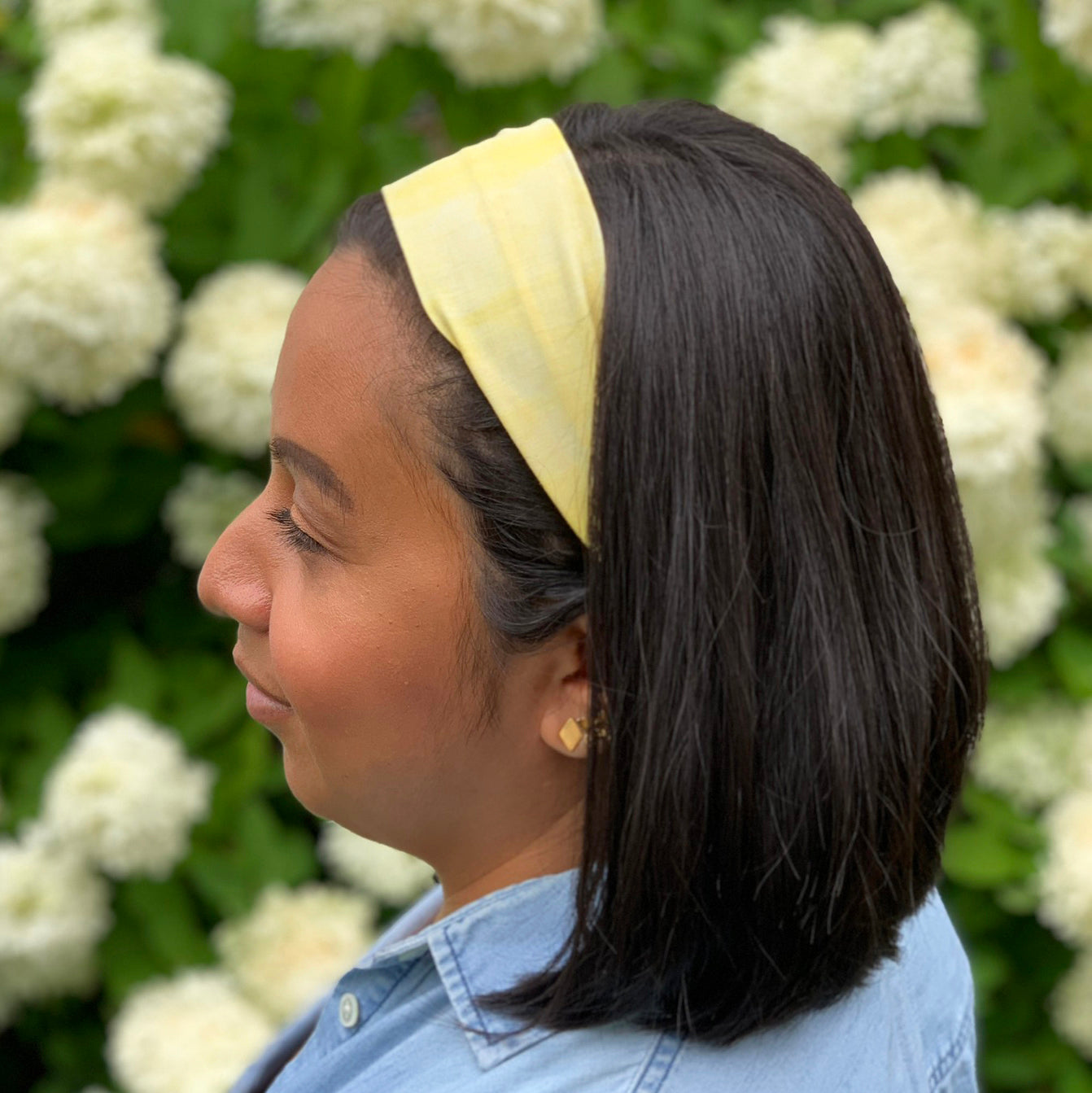 Organic cotton headband, hand dyed with natural pigment