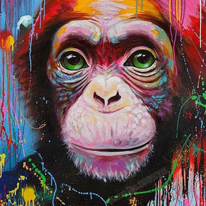 5D Diamond Painting Abstract Chimp Kit