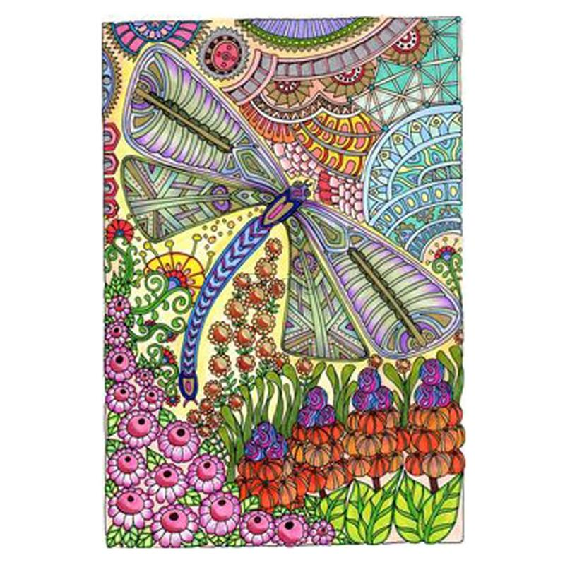 5D Diamond Painting Abstract Flower Dragonfly Kit