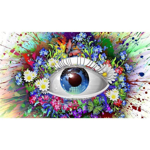 5D Diamond Painting Abstract Flower Eye Kit