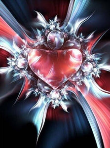 5D Diamond Painting Abstract Heart Kit