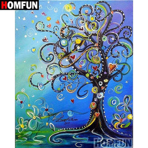 5D Diamond Painting Abstract Heart Tree Kit
