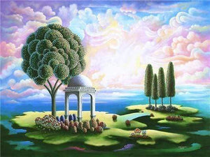 5D Diamond Painting Abstract Island Gazebo Kit