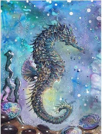 5D Diamond Painting Abstract Ocean Sea Horse Kit