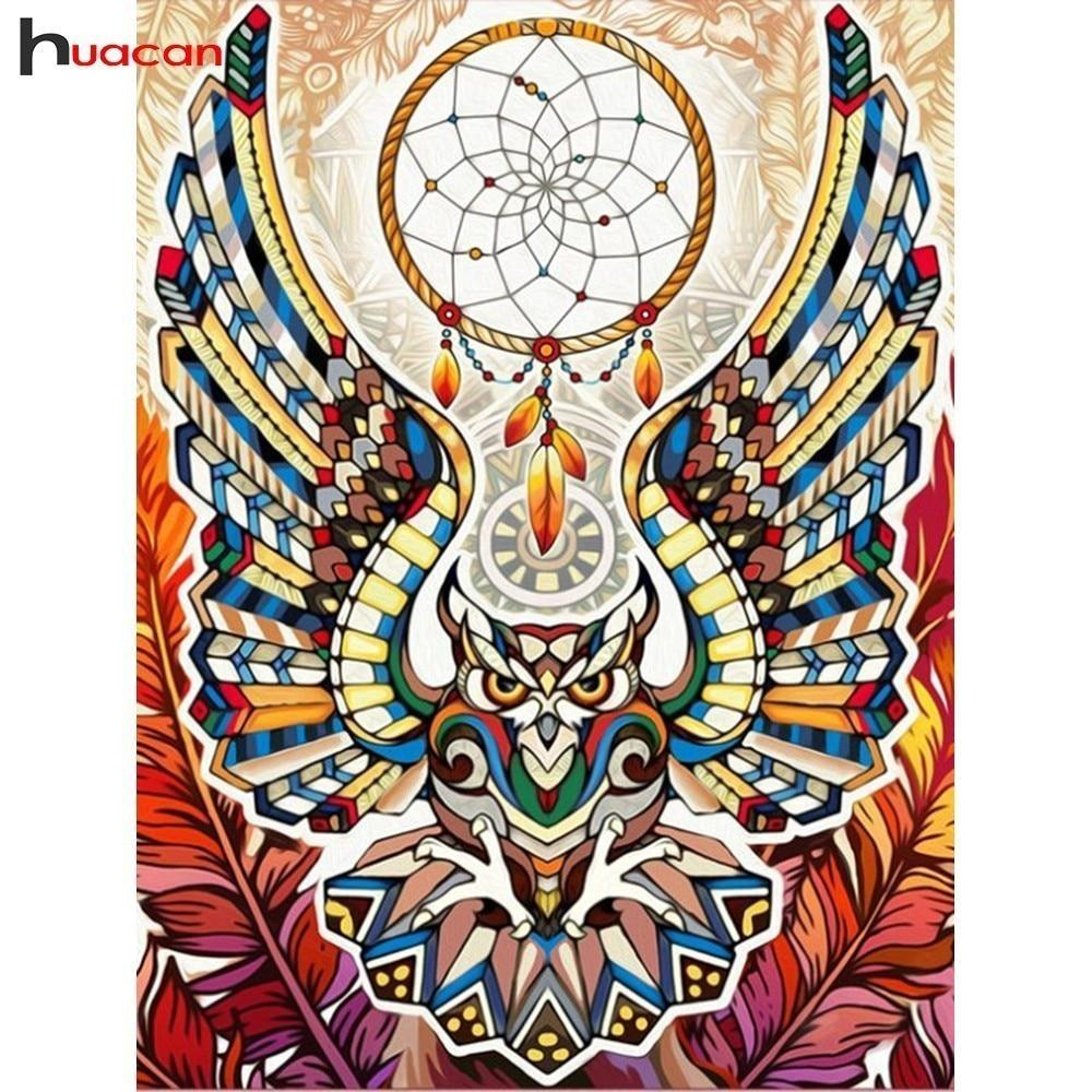 5D Diamond Painting Abstract Owl Dream Catcher Kit