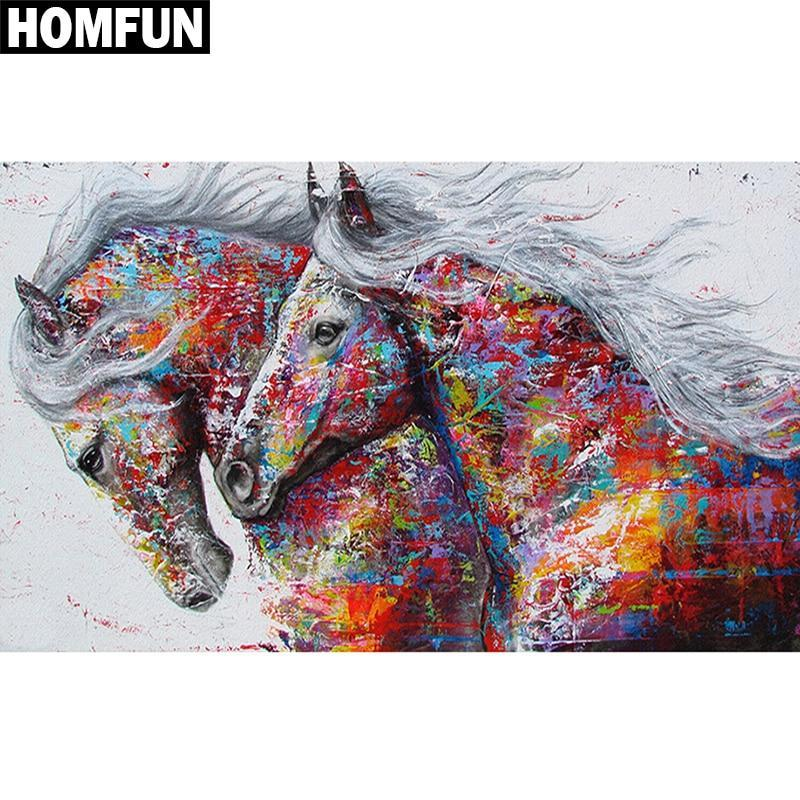5D Diamond Painting Abstract Painted Horses Kit