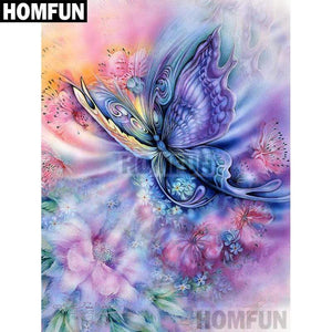 5D Diamond Painting Abstract Pastel Butterfly Kit