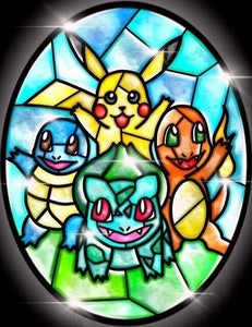 5D Diamond Painting Abstract Pikachu and Friends Kit