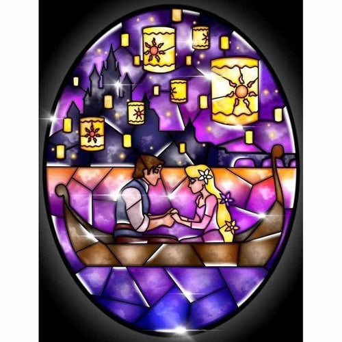 5D Diamond Painting Abstract Rapunzel and Flynn Tangled Kit