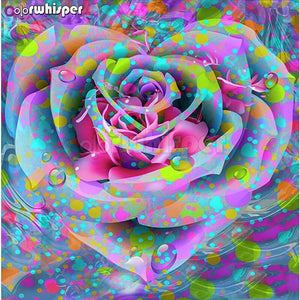 5D Diamond Painting Abstract Rose Design Kit