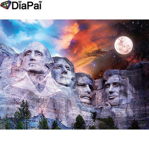 5D Diamond Painting Abstract Sky Mount Rushmore Kit