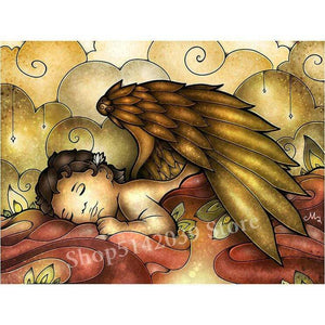 5D Diamond Painting Abstract Sleeping Angel Kit