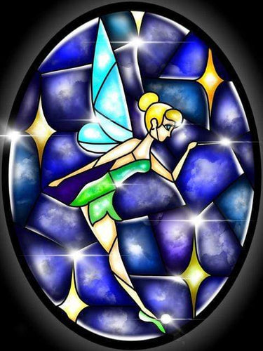 5D Diamond Painting Abstract Tinkerbell & Wand Kit