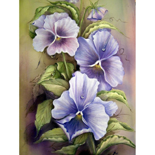 5D Diamond Painting Abstract Violets