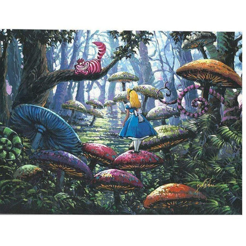 5D Diamond Painting Alice and the Cheshire Cat Kit